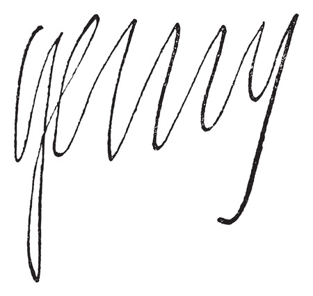 catholicism: Signature of  Henri IV, King of France (1553-1610), vintage engraved illustration. Dictionary of words and things - Larive and Fleury - 1895.