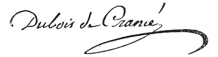 statesman: Signature of Guillaume Dubois (1656-1723), vintage engraved illustration. Dictionary of words and things - Larive and Fleury - 1895.