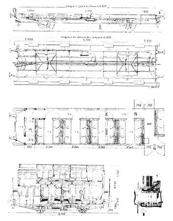 Wagon, Jahrgang gravierte Darstellung. Wörterbuch der Wörter und Dinge - Larive und Fleury - 1895. Standard-Bild - 35184603