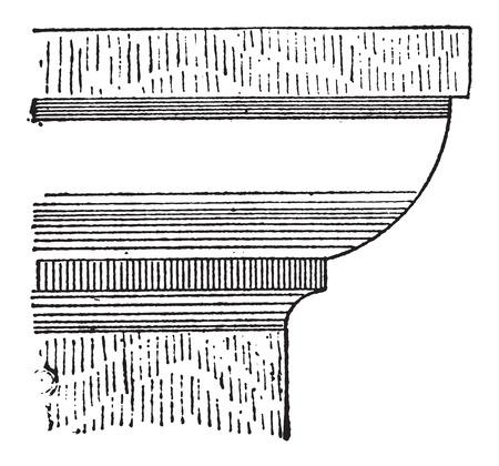 kwadrant: Quadrant, w architekturze, vintage grawerowane ilustracji. Słownik słów i rzeczy - Larive i Fleury - 1895 Ilustracja