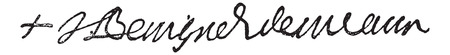 Signature of Jacques-Bénigne Bossuet, Bishop of Meaux (1627-1701), vintage engraved illustration. Dictionary of words and things - Larive and Fleury - 1895.