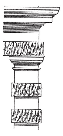 deposition: Stalactite, vintage engraved illustration. Dictionary of words and things - Larive and Fleury - 1895.