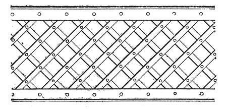 latticework: Latticework, vintage engraved illustration. Dictionary of words and things - Larive and Fleury - 1895.