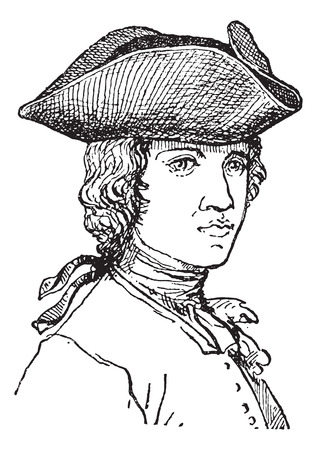 tricorne: Tricorne or Tricorn, vintage engraved illustration. Dictionary of words and things - Larive and Fleury - 1895. Illustration