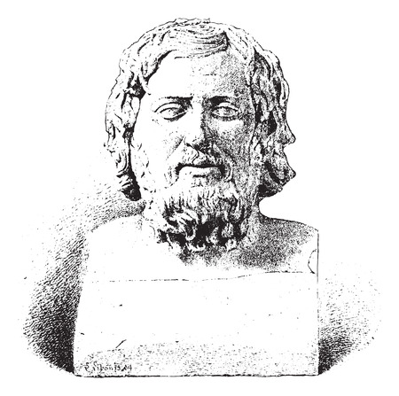 Xenophon or Xenophon of Athens, vintage engraved illustration. Dictionary of words and things - Larive and Fleury - 1895.