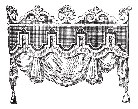 furniture design: Valance, vintage engraved illustration. Dictionary of words and things - Larive and Fleury - 1895.