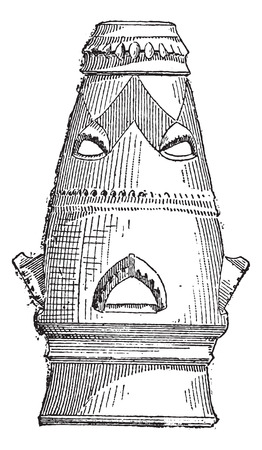Chimney, vintage engraved illustration. Dictionary of Words and Things - Larive and Fleury - 1895