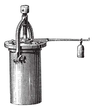 sterilization: Pressure Cooker, vintage engraved illustration. Dictionary of Words and Things - Larive and Fleury - 1895