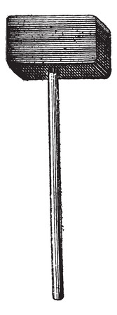 Sledgehammer, vintage engraved illustration. Dictionary of Words and Things - Larive and Fleury - 1895