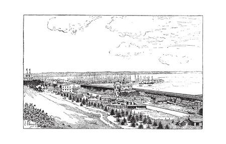 ウクライナのオデッサ、ヴィンテージの図を刻まれています。辞書の言葉や物事 - Larive 氏 - 1895