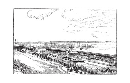 oblast: Odessa in Ukraine, vintage engraved illustration. Dictionary of Words and Things - Larive and Fleury - 1895