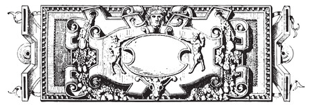 representations: Ornament, Renaissance Sculpture, vintage engraved illustration. Dictionary of words and things - Larive and Fleury - 1895.
