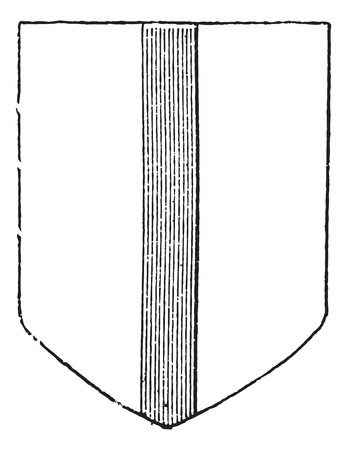 representations: Blason, vintage engraved illustration. Dictionary of words and things - Larive and Fleury - 1895.