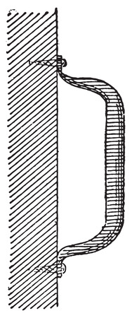 bracket: Handle with bracket, vintage engraved illustration. Dictionary of words and things - Larive and Fleury - 1895.