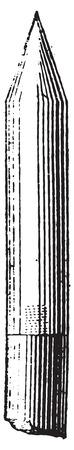 Blitzableiter oder Blitzableiter, Jahrgang gravierte Darstellung. Wörterbuch der Wörter und Dinge - Larive und Fleury - 1895. Standard-Bild - 35364123