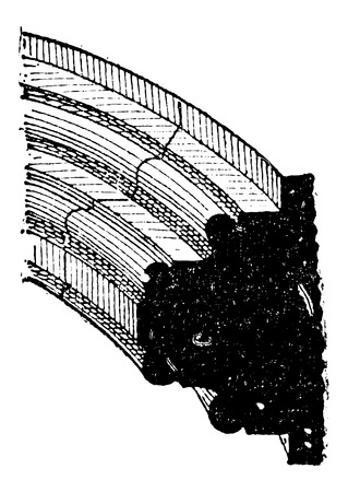 gothic architecture: Rib of a Gothic Vault, in Architecture, vintage engraved illustration. Dictionary of Words and Things - Larive and Fleury - 1895