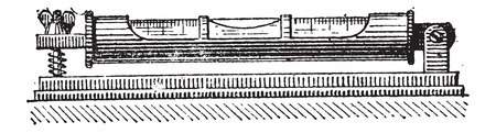 성령 또는 거품 수준, 관, 빈티지 새겨진 그림. Larive 및 플 뢰리 - - 1,895 단어와 사물의 사전 일러스트