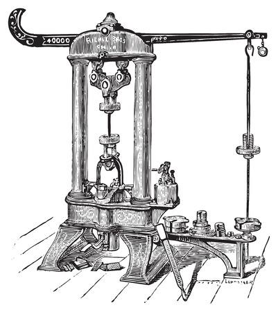 Riehle testen machine Stock Illustratie