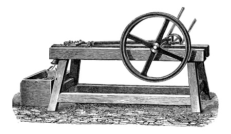 planing: Planing Mill used in the Manufacturing of Matches, vintage engraved illustration