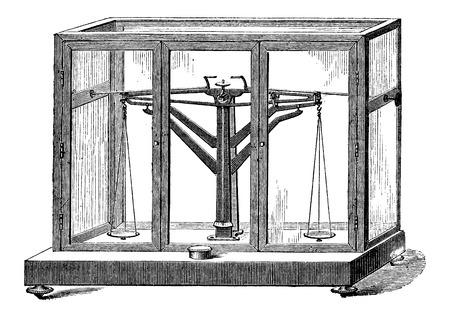 Precision Balance, vintage engraved illustration