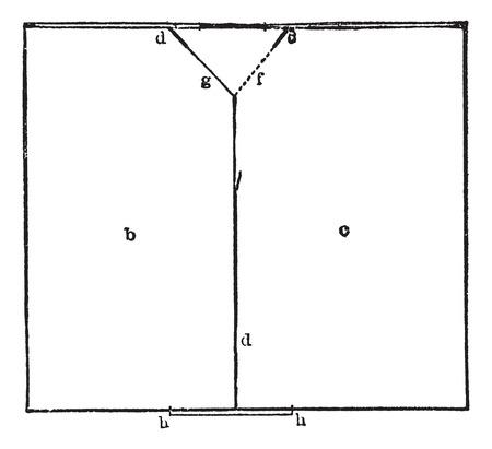 the encyclopedia: Plan, vintage engraved illustration.Trousset encyclopedia (1886 - 1891). Illustration
