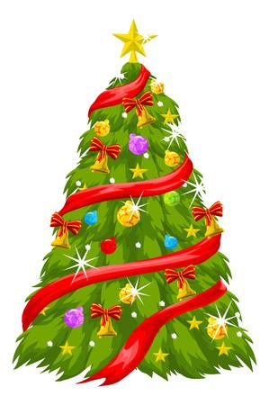 christmas tree illustration: Christmas Tree, vector illustration
