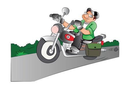 Motorcycle Rider, vector illustration
