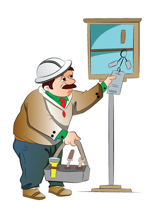 Maintenance Guy, illustration Illusztráció