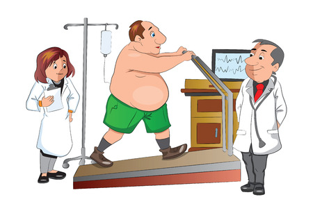physical therapist: Physical Checkup, illustration