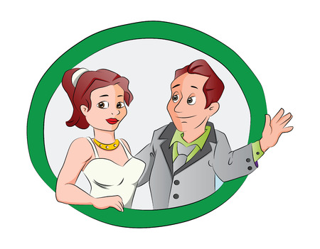Man and Woman Couple, illustration