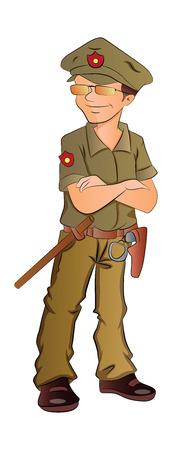 guard duty: Guardia de seguridad, ilustraci�n