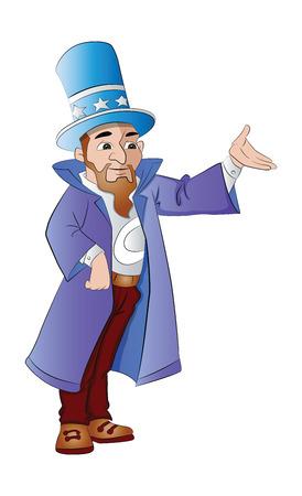 trickster: Magician, vector illustration Illustration