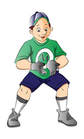 ballgame: Baseball Player, Catcher, illustration