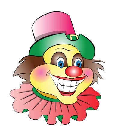 Clown Head, illustration