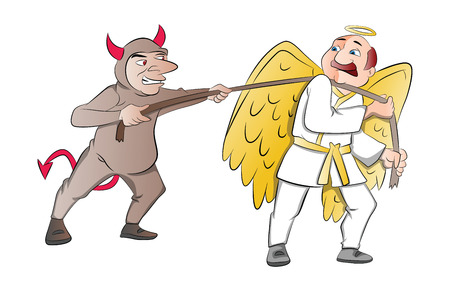 78 Battle Of Good And Evil Stock Illustrations, Cliparts And