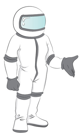 spacesuit: Vector illustration of astronaut in spacesuit. Illustration