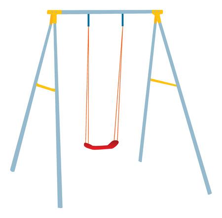 swing: Children swing set, outdoor play. Illustration