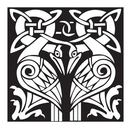 デュアル ケルト鳥のイラスト