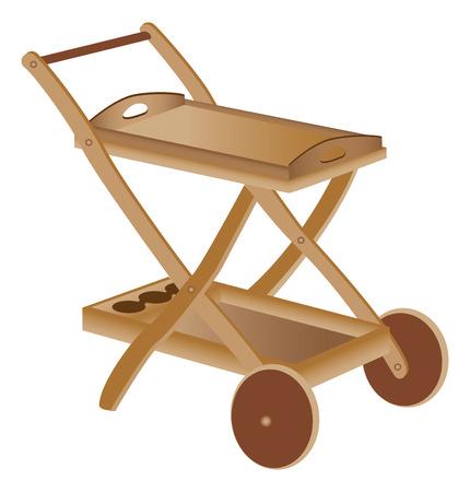 Wooden toy cart Illusztráció