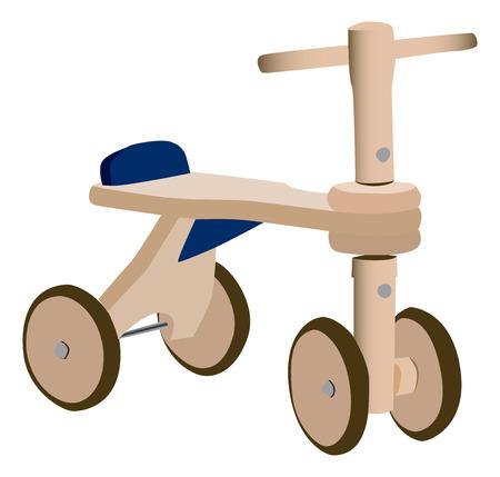 木のおもちゃ自転車
