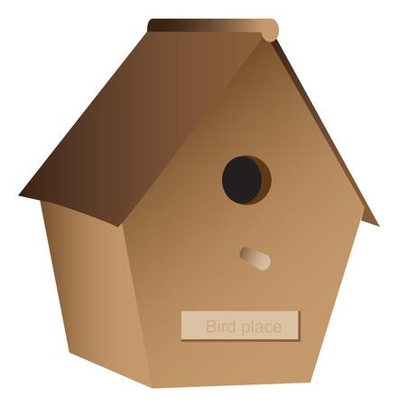 gr: Wooden nest box