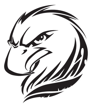 design: Eagle head tattoo design, vintage engraved illustration. Illustration