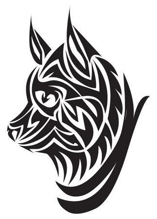 Tattoo design of fox head, vintage engraved illustration. Vector