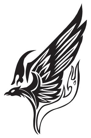 design: Tattoo design of phoenix, vintage engraving.