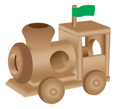 toy train: Wooden toy train illustration Illustration