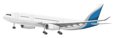 離陸する航空機のイラスト。  イラスト・ベクター素材