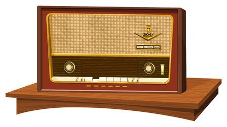 Illustratie van een oude radio.