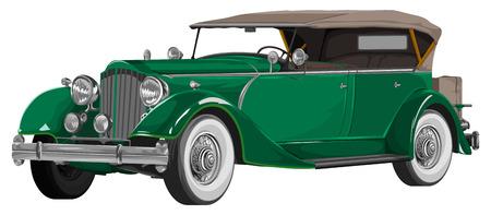 representations: Illustration of vintage car.