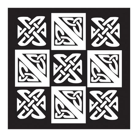 ケルト パターンと結び目のイラスト