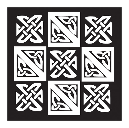 artistry: A illustration of a Celtic pattern and knots